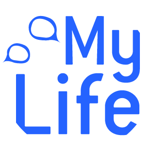 Mylife logo white